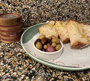 Olives and sourdough