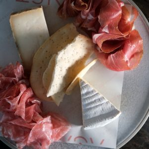 Mixed premium meat and cheese plate